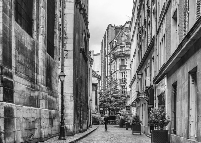 Paris Street Greeting Card featuring the photograph Route Parisian by Georgia Fowler