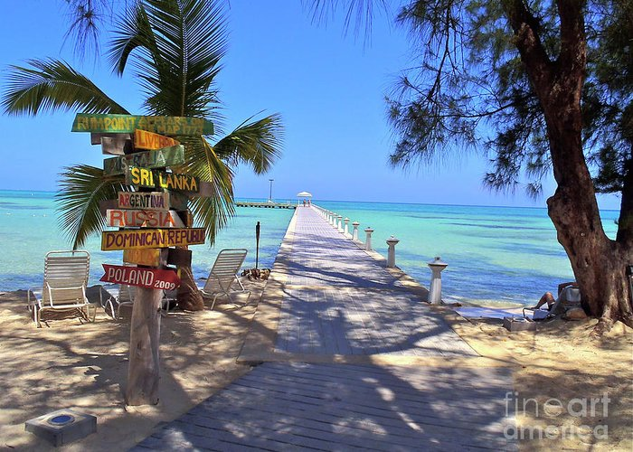 Cayman Greeting Card featuring the photograph Rum Point by Carey Chen