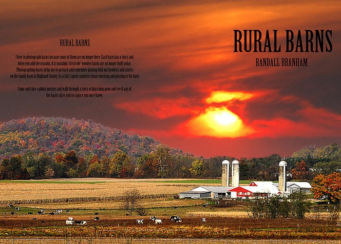 Barns Greeting Card featuring the photograph Rural Barns By Randall Branham by Randall Branham