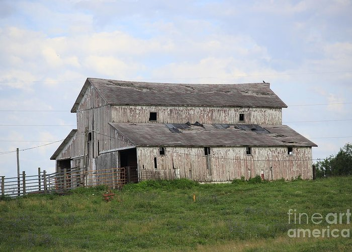 Barn Greeting Card featuring the photograph Rural Moravia by Anthony Cornett