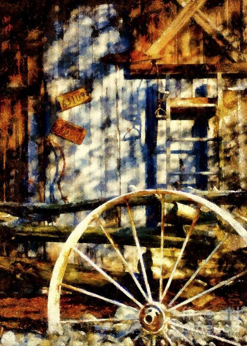 Country Western Greeting Card featuring the photograph Rustic Decor by Janine Riley
