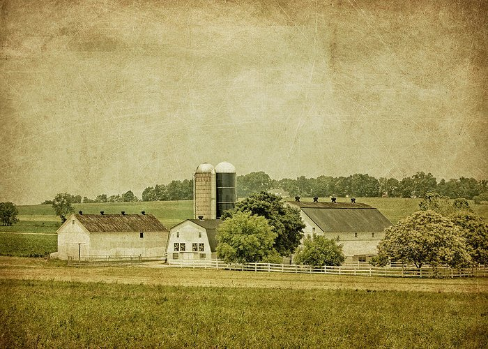 Barn Greeting Card featuring the photograph Rustic Farm - Barn by Kim Hojnacki