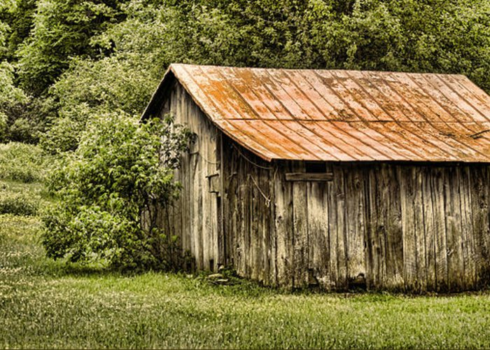 Barn Greeting Card featuring the photograph Rustic by Heather Applegate