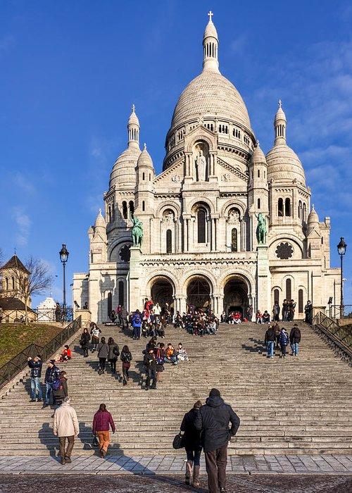 Paris Greeting Card featuring the photograph Sacre Coeur - Parisian Landmark by Mark E Tisdale