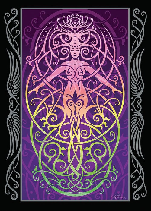 Goddess Greeting Card featuring the digital art Sacred Ecology V.2 by Cristina McAllister