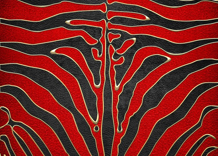 'abstracts Plus' Collection By Serge Averbukh Greeting Card featuring the digital art Safari by Serge Averbukh