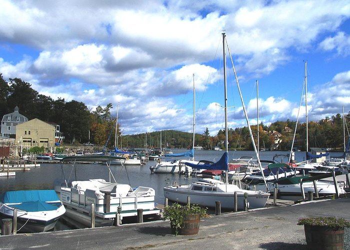 Sailboats Greeting Card featuring the photograph Sailboats On Sunapee by Will Boutin Photos