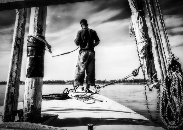 Adventure Greeting Card featuring the photograph Sailing On The Nile by Erik Brede