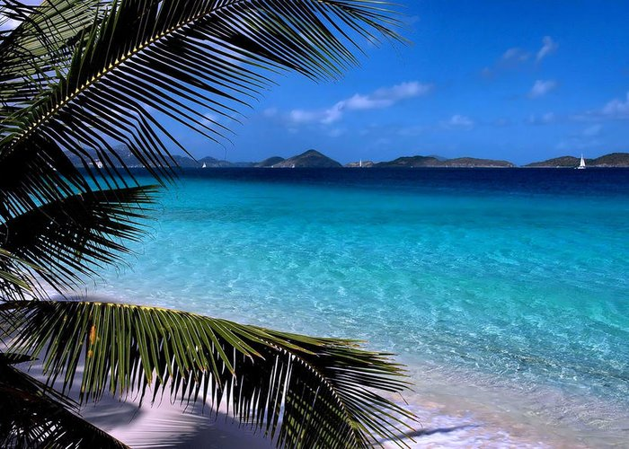 St. John Greeting Card featuring the photograph Saloman Beach - St. John by Stephen Vecchiotti