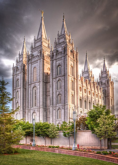 Temple Greeting Card featuring the photograph Salt Lake Temple by Niels Nielsen