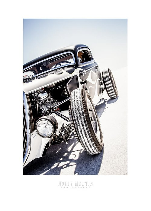 Antique Automobile Greeting Card featuring the photograph Salt Metal by Holly Martin