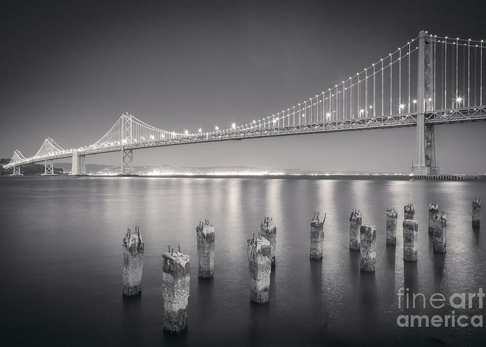 California Greeting Card featuring the photograph San Francisco Bay Bridge by Colin and Linda McKie
