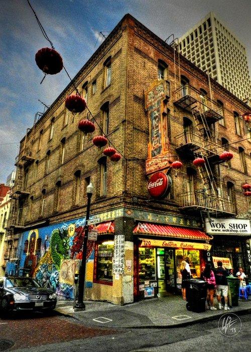San Francisco California Greeting Card featuring the photograph San Francisco - Chinatown 006 by Lance Vaughn