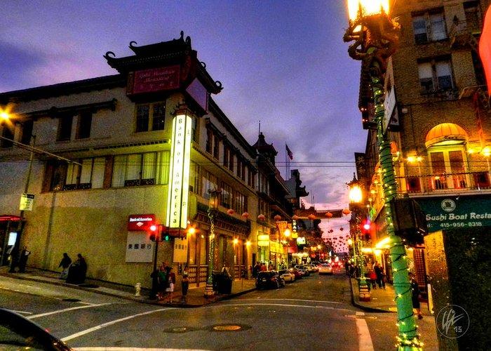 San Francisco California Greeting Card featuring the photograph San Francisco - Chinatown 010 by Lance Vaughn