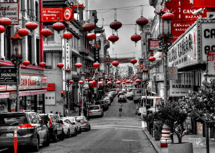 San Francisco California Greeting Card featuring the photograph San Francisco - Chinatown 014 by Lance Vaughn