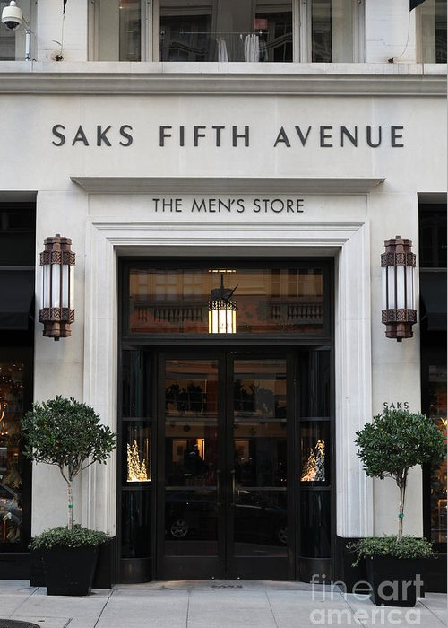 San Francisco Greeting Card featuring the photograph San Francisco Saks Fifth Avenue Store Doors - 5d20574 by Wingsdomain Art and Photography