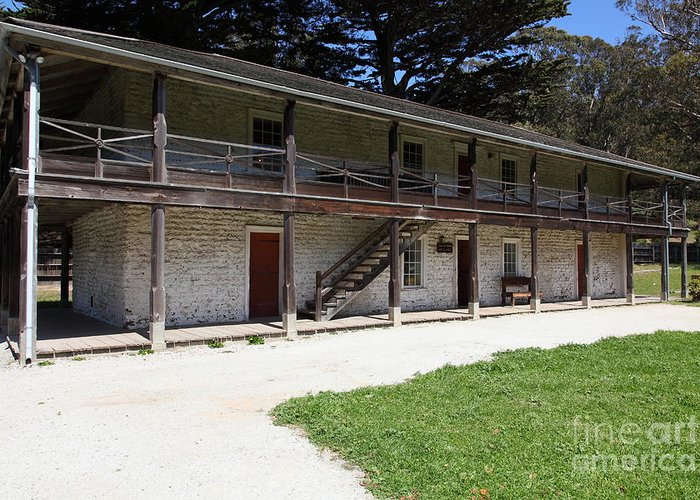 Bayarea Greeting Card featuring the photograph Sanchez Adobe Pacifica California 5d22643 by Wingsdomain Art and Photography