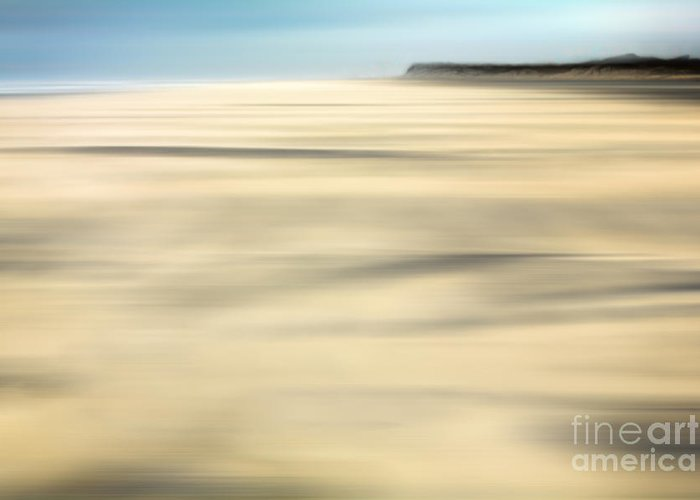 Outer Banks Greeting Card featuring the photograph Sand - A Tranquil Moments Landscape by Dan Carmichael