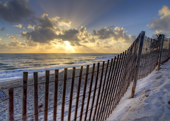 Atlantic Greeting Card featuring the photograph Sand Dunes  by Debra and Dave Vanderlaan