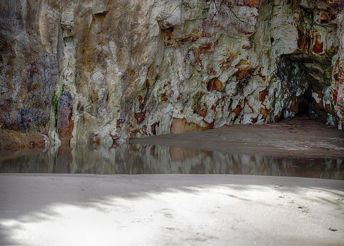 Sandstone Greeting Card featuring the photograph Sandstone Cave V2 by Douglas Barnard