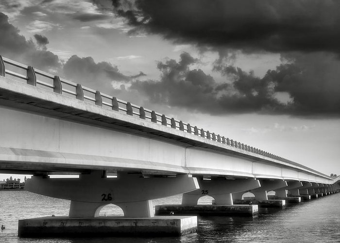 Road Greeting Card featuring the photograph Sanibel Causeway II by Steven Ainsworth