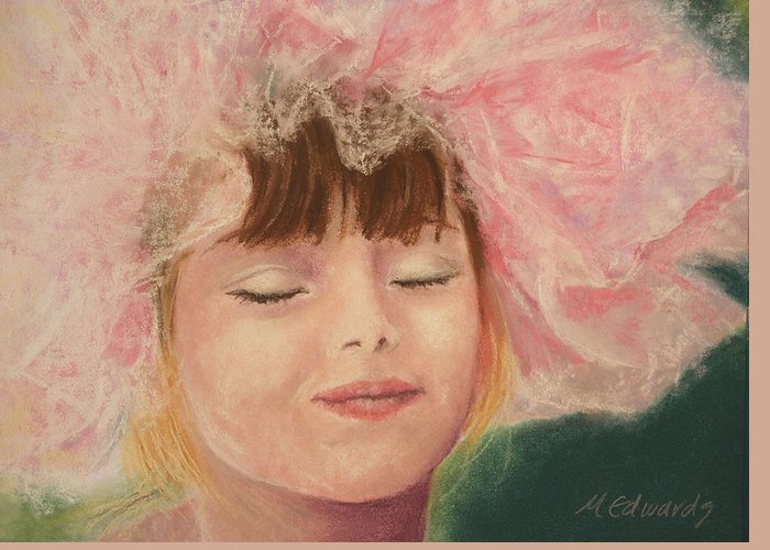 Sassy Greeting Card featuring the pastel Sassy In Tulle by Marna Edwards Flavell