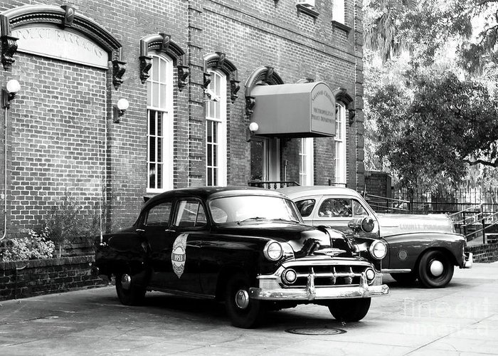 Savannah Greeting Card featuring the photograph Savannah Police Station by John Rizzuto