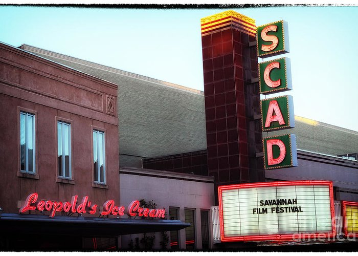 Scad Greeting Card featuring the photograph Scad by John Rizzuto