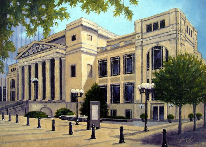 Nashville Greeting Card featuring the painting Schermerhorn Symphony Center by Janet King