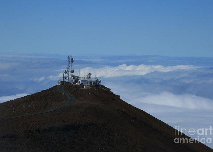 Aloha Greeting Card featuring the photograph Science City Haleakala by Sharon Mau