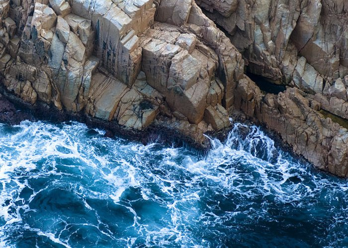 Sea Greeting Card featuring the photograph Sea Rocks by Frank Tschakert