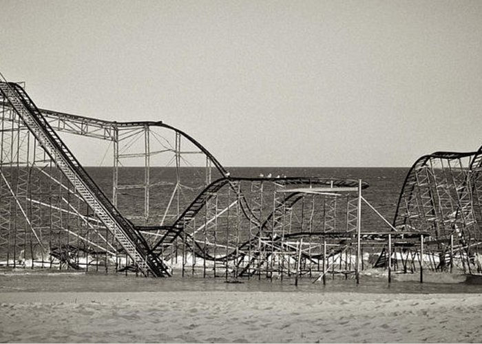 The Jet Star Greeting Card featuring the photograph Seaside After Sandy by Mark Miller