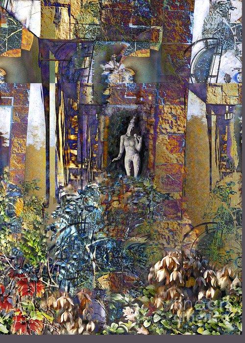 Secret Garden Greeting Card featuring the digital art Secret Garden by Ursula Freer
