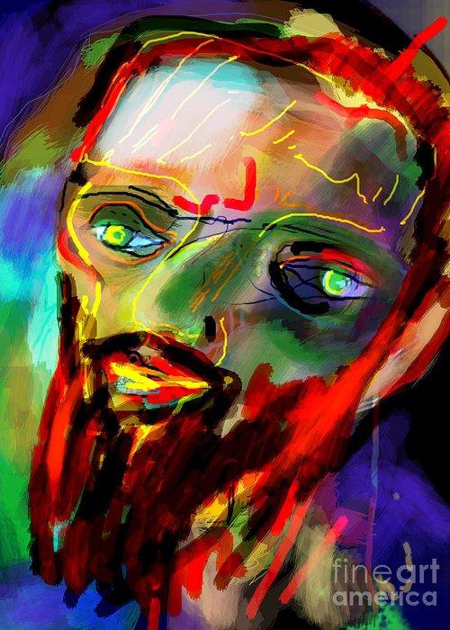 Torah Greeting Card featuring the digital art Self Development 6 by David Baruch Wolk