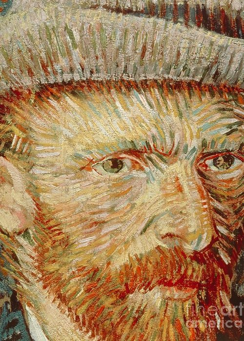 Art Greeting Card featuring the painting Self-portrait With Hat by Vincent van Gogh