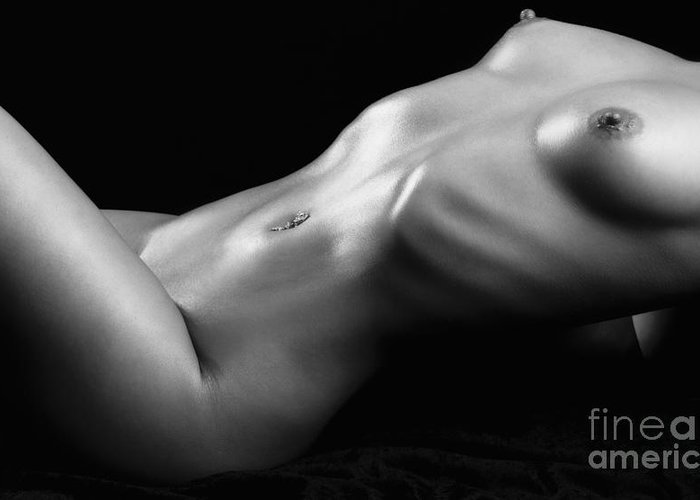 Nude Greeting Card featuring the photograph Shades by Exposed Arts