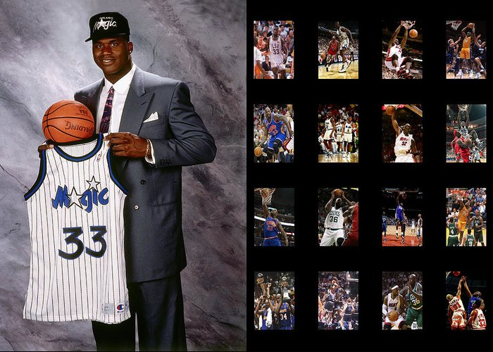 Shaquille O'neal Greeting Card featuring the photograph Shaquille O'neal by Joe Hamilton