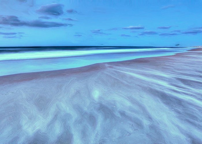 Frisco Beach Greeting Card featuring the photograph Shifting Sands On Frisco Beach Outer Banks II by Dan Carmichael