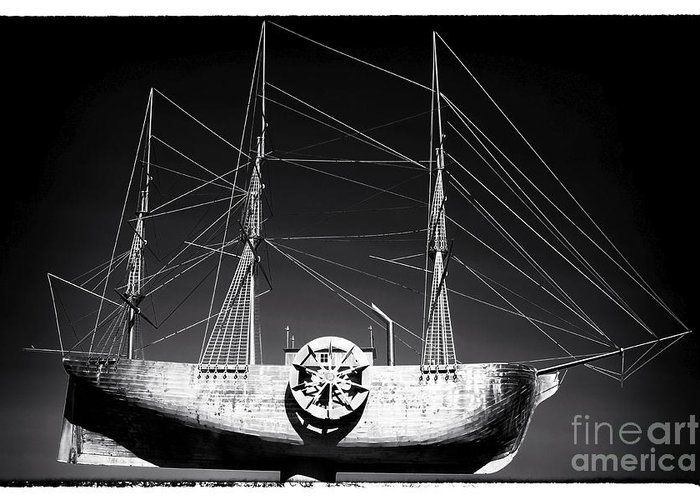 Ship Greeting Card featuring the photograph Ship by John Rizzuto