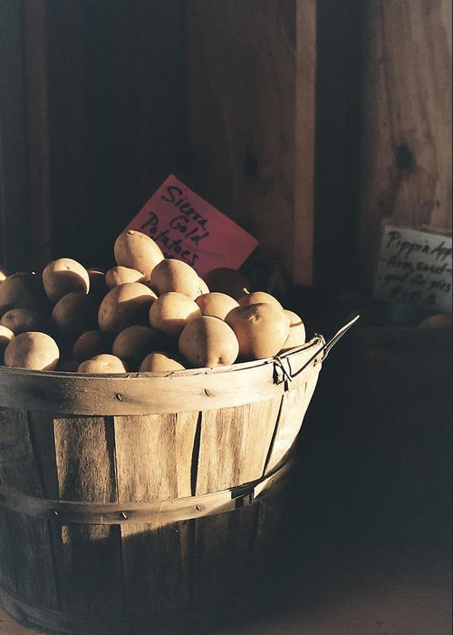 Potatoes Greeting Card featuring the photograph Sierra Gold by Caitlyn Grasso
