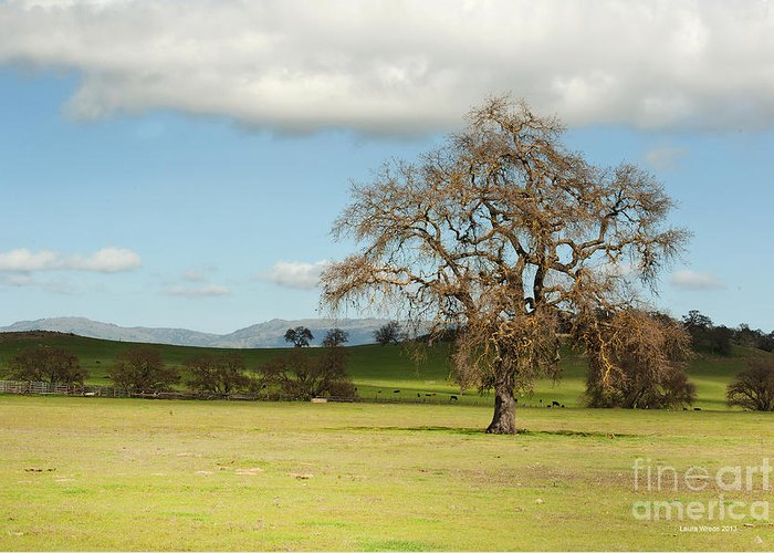 Landscape Photography Greeting Card featuring the photograph Silicon Valley Hills by Artist and Photographer Laura Wrede