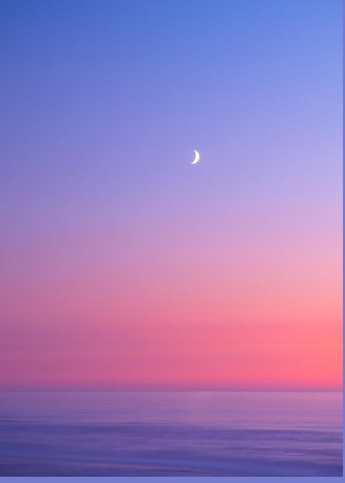 Moon Greeting Card featuring the photograph Simplistic Wonders Of The Earth by Darren White