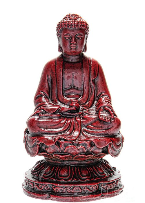 Buddha Greeting Card featuring the photograph Sitting Buddha by Olivier Le Queinec