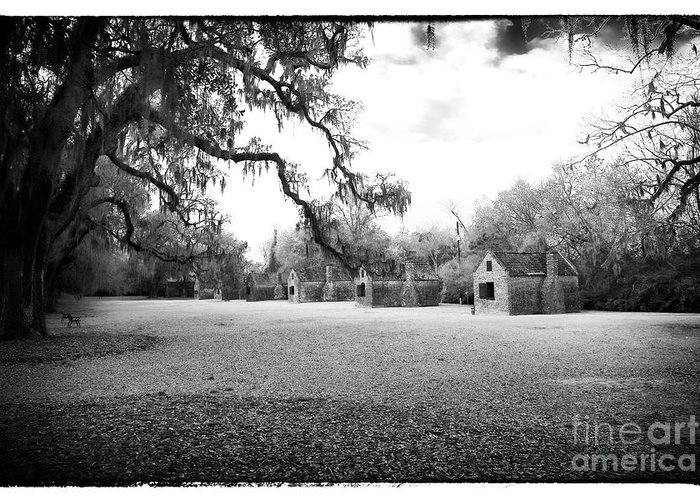 Slave Quarters Greeting Card featuring the photograph Slave Quarters by John Rizzuto