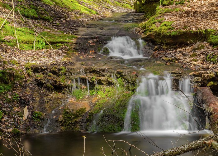 Waterfall Canvas Prints Greeting Card featuring the photograph Small Falls At Parfrey's Glen by Jonah Anderson