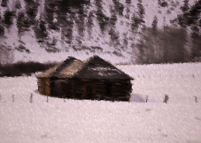 Landscape Greeting Card featuring the photograph Snowed In by Kevin Bone