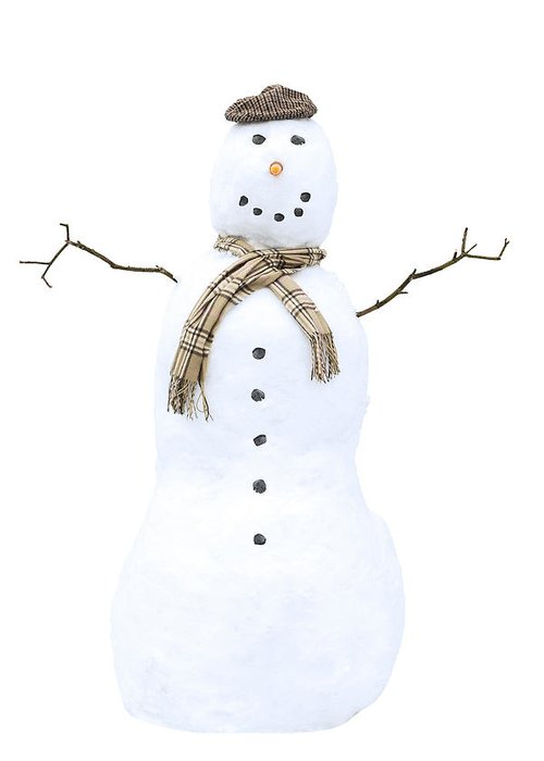 Snowman Greeting Card featuring the photograph Snowman by Amanda Elwell