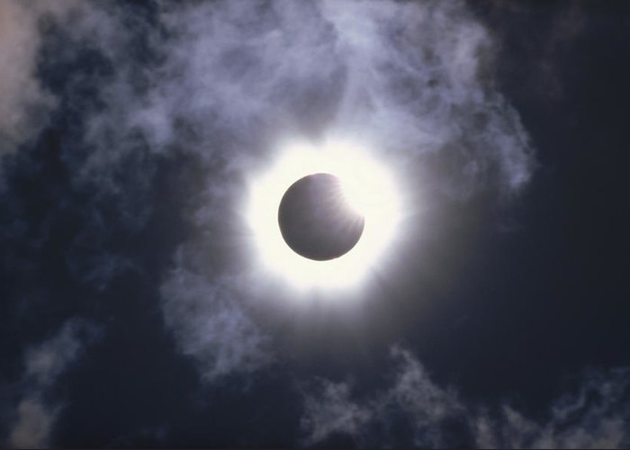 Cloud Greeting Card featuring the photograph Solar Eclipse August 11 1999 by Konrad Wothe
