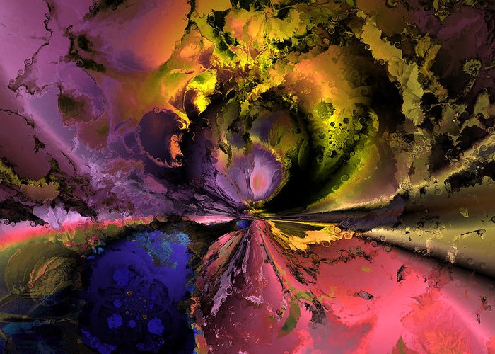 Digital Greeting Card featuring the digital art Song Of The Cosmos by Claude McCoy