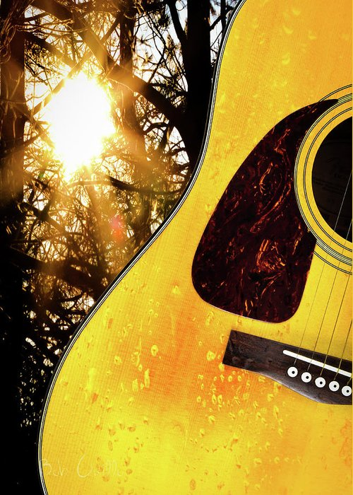 Guitar Greeting Card featuring the photograph Songs From The Wood by Bob Orsillo